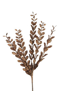 """Picture of Boxwood Spray Chocolate Glitter 24"""""""