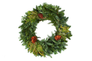 "Picture of Mixed Noble 28"" Wreath"