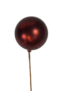 Picture of Ornament Ball 100mm Antique Red