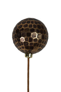 Picture of Ornament Ball 120mm Gold Hammer Metal