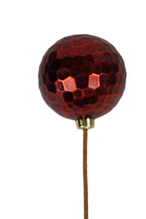 Picture of Ornament Ball 120mm Red Hammer Metal