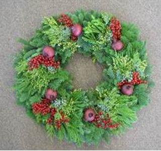 "Picture of Pomegranate 24"" Wreath"