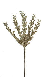 """Picture of Boxwood Spray Champagne Glitter 24"""""""