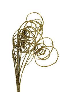 Picture of Cane Circles Gold Glitter Medium